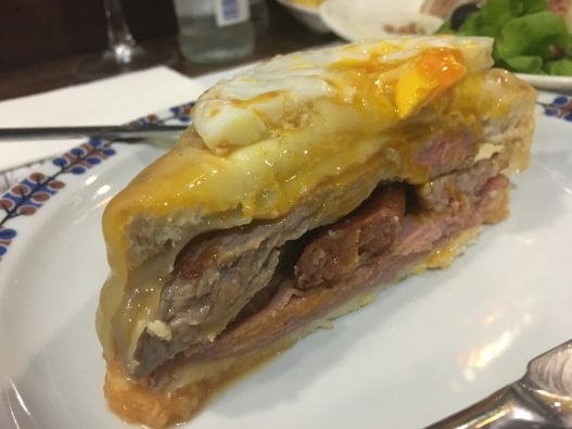 This is a francesinha, Porto's specialty